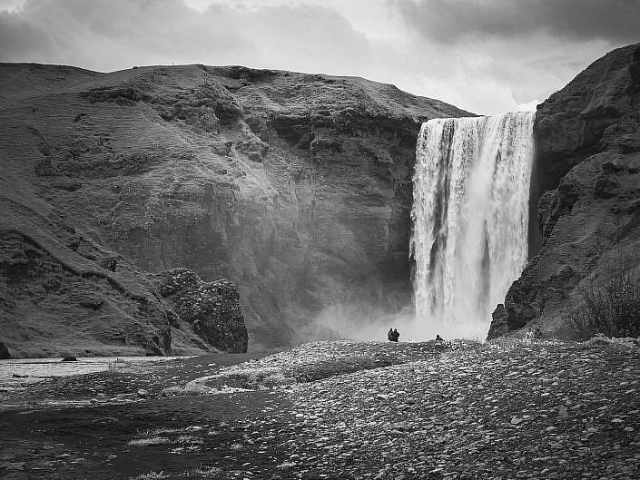 Islande - Noir & Blanc